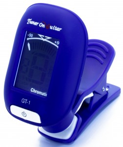 Blue Mini Clip-on Guitar Tuner GT-1