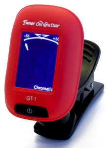 Red Mini Clip-on Guitar Tuner GT-1